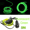 EDFY 5M Flexible EL Wire Neon LED Car Light Party Rope Tube + 12V Inverter