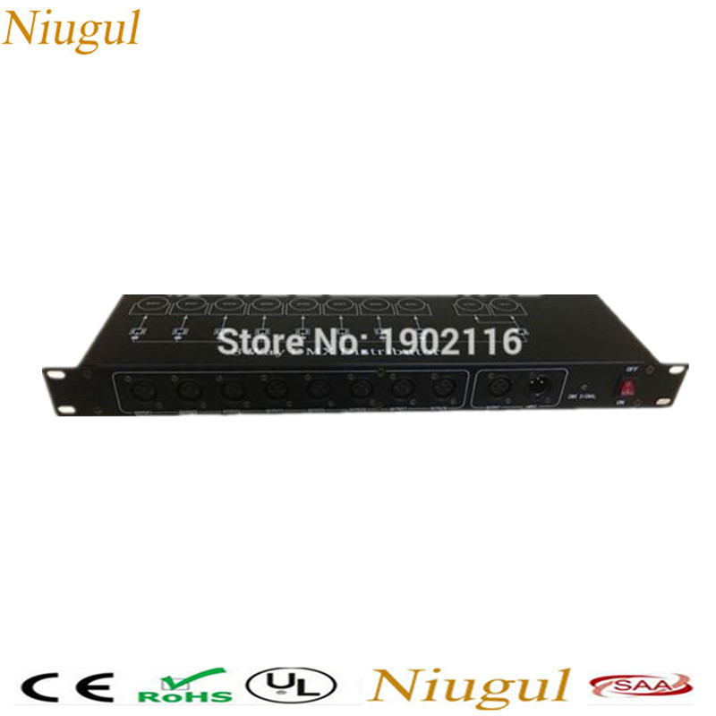 DHL/FedEx Free shipping Best quality 8CH DMX Splitter DMX512 Light Stage Lights Signal Amplifier Splitter 8 way DMX Distributor серверный корпус supermicro cse 732i r500b e atx 4x3 5