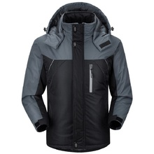 2016 Winter Men's Jacket Thicken Casual Stand Collar Coat Fleece Thermal Hoodies Waterproof Hooded Parkas Brand Clothing LA068