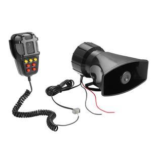 Image 5 - 2020 Tone Sound Car Emergency Siren Car Siren Horn Mic PA Speaker System Emergency Amplifier Hooter 12V 100W