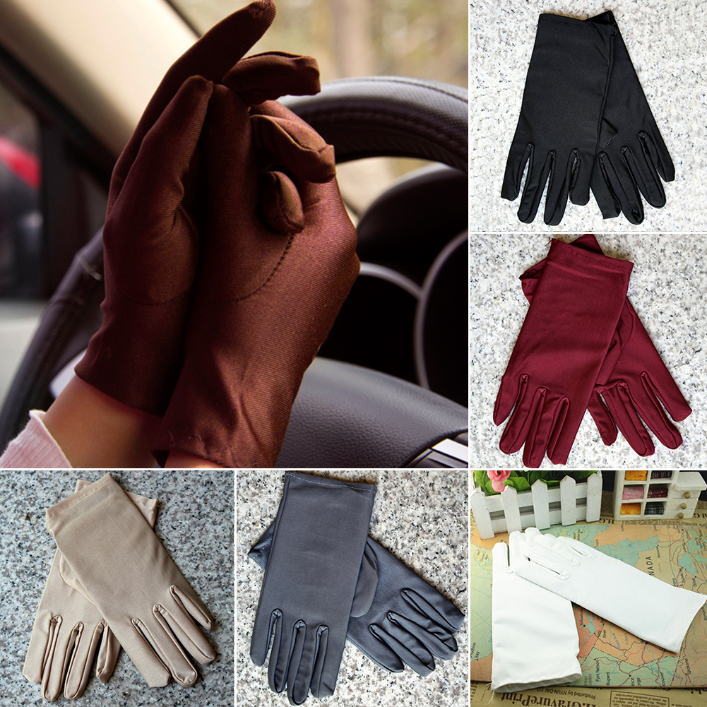 Summer Sun Protection Gloves Paragraphs Thin Short Driving UV Protection Women Gloves  Gloves