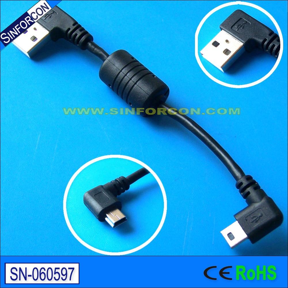 90 degree usb gender change cable l shape plug usb cable low profile ...