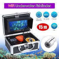 EYOYO WF13W 15M 7 HD 1000TVL LCD Monitor 15M 12VDC Underwater IP68 Night Vision 4500mAhFishing Camera