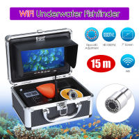 EYOYO WF13W 15M 7 HD 1000TVL LCD Monitor 15M 12VDC Underwater IP68 Night Vision 4500mAhFishing Camera
