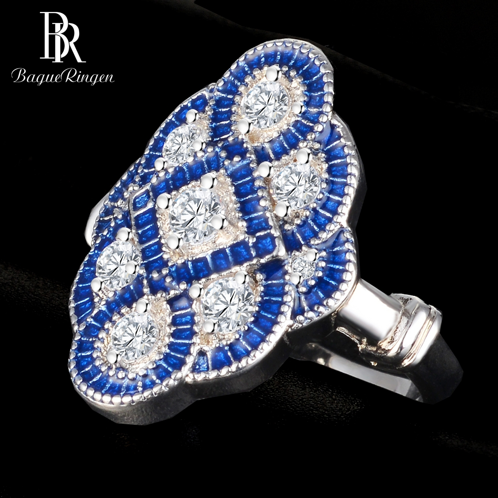 Bague Ringen Vintage 925 Sterling Silver Jewelry Sapphire Rings For Women Original Design Men 39 s Anniversary Ring Wholesale Gift in Rings from Jewelry amp Accessories