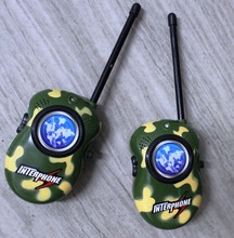 2PCS toy walkie talkie phone Camouflage 2 Way Radio Communicator Bright Multicolor Electronic Toys for Children kids