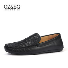 2019 Men Casual Shoes Fashion Knit Man Shoes Cow Leather Men Loafers Moccasins Slip On Men Flats Loafers Male Shoes Top Quality mabaiwan 2018 fashion men shoes metal top wedding dress shoes men flats espadrilles leather ankle boots men slip on casual shoes page 2