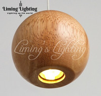 Solid Wood Modern Pendant Light Chinese Japanese Nordic Creative Minimalist Living Room Dining Wooden Ball Wooden Pendant Lamp