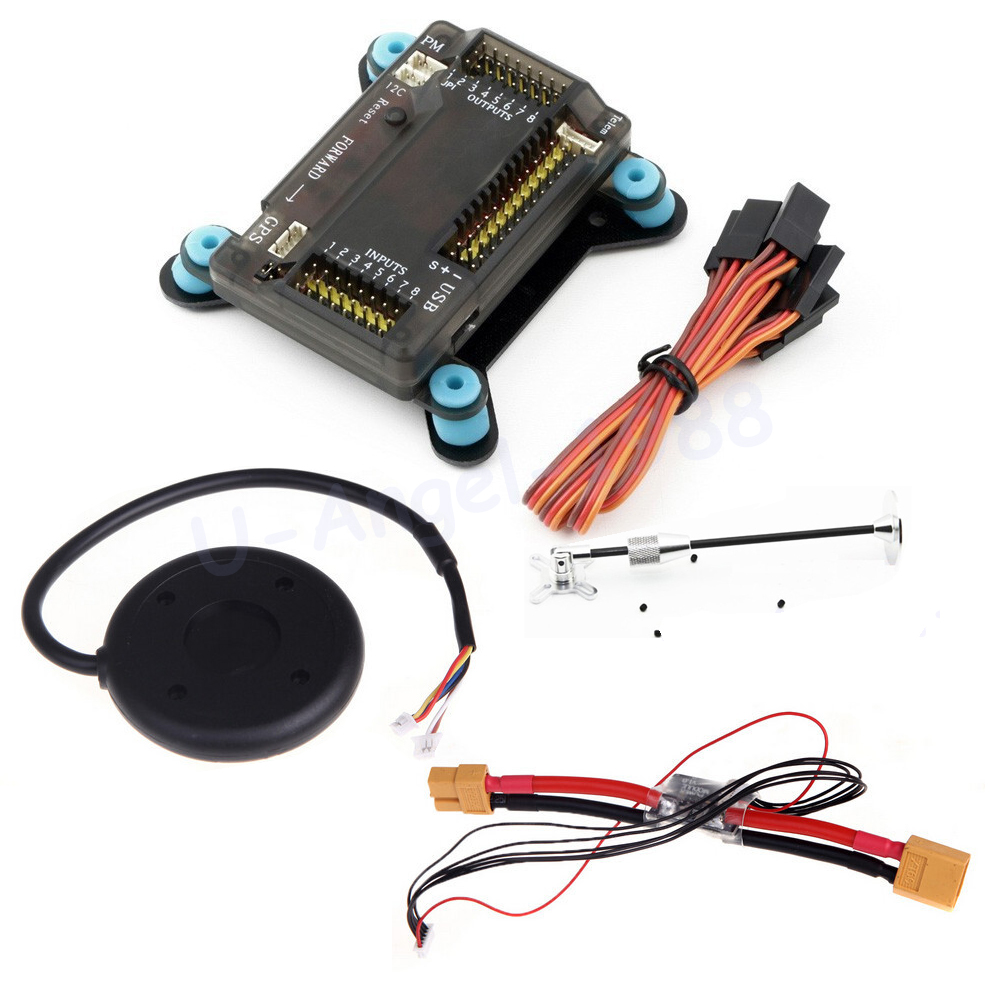 APM APM2.8 Flight Controller Board +Shock Absorber + NEO-6M 6M GPS w/ Stand Holder +Power Module for RC Quadcopter Multicopter mini apm2 6 external compass flight controller board neo 6m gps apm osd minimosd for multicopter