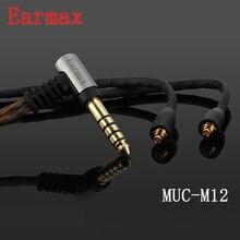 Earmax MMCX для 4.4 мм наушники повышен кабель occ серебрение Hi-Fi AUX аудиокабель Замена для Shure SE215/ 535/846/UE900