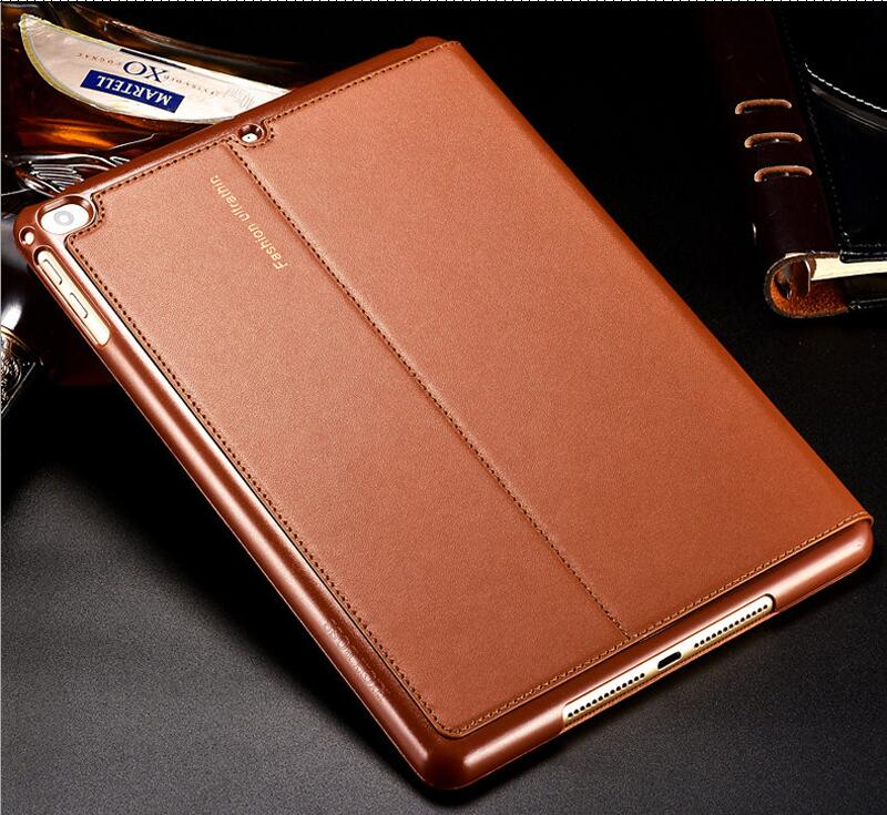 Nice Real Premium Genuine Leather Case For Apple IPad 2017 2018 9.7 Inch  Air 1 2 Cover Case Turn On/off Protective Smart Case