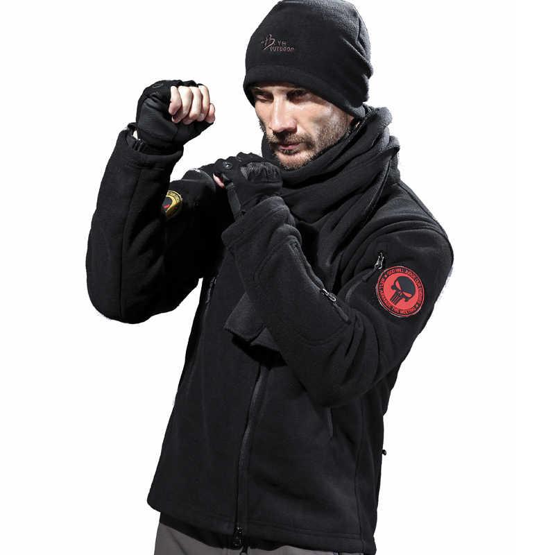 Militaire Fleece Jas Mannen Hoodie Jacht Jas Outdoor Sport Trui Tactische Jas Kleding Vrouwen Plus Size Herfst Winter