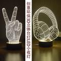 Victory V Geste Lampe 3D USB Visual Led Nachthimmel Kreative Decor Studie Zimmer Tischlampe Lampara Schlafen Nachtlicht für geschenk