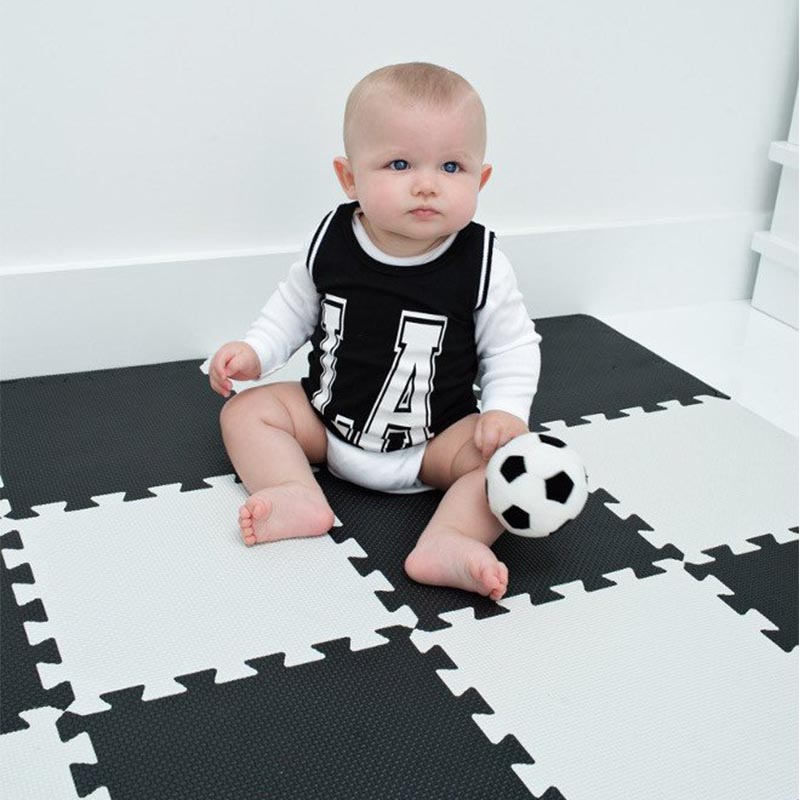 9 pcs Baby Black White Play Mat Infant Kid Puzzle Eva Foam