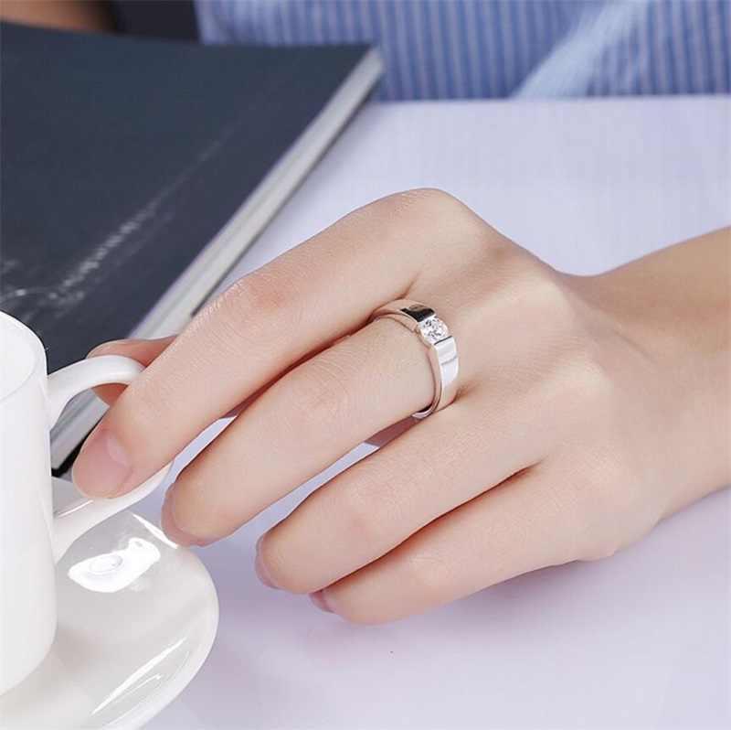 Lmnzb real natural sólido 925 anéis de prata 1 quilates sona diamante anéis de casamento para mulher e homem tamanho completo 6 7 8 9 10 11 12 LR-D10