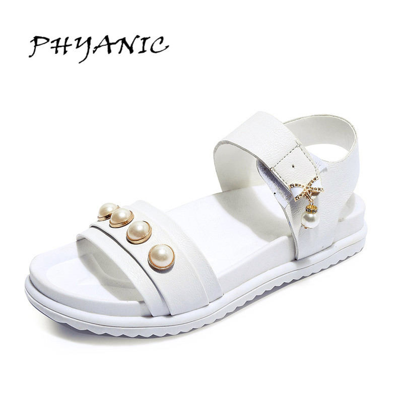 PHYANIC 2017 New Style Bead Ankle Strap Women Sandals Platform Gladiator Sandals Summer Shoes Woman Dress Sandals PHY5111 phyanic 2017 gladiator sandals gold silver shoes woman summer platform wedges glitters creepers casual women shoes phy3323