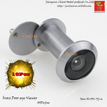 wholesale 10PCS Brass satin CHROME 200 Degree wide angle with glass lens door viewer Peephole Door Security Viewer Eye