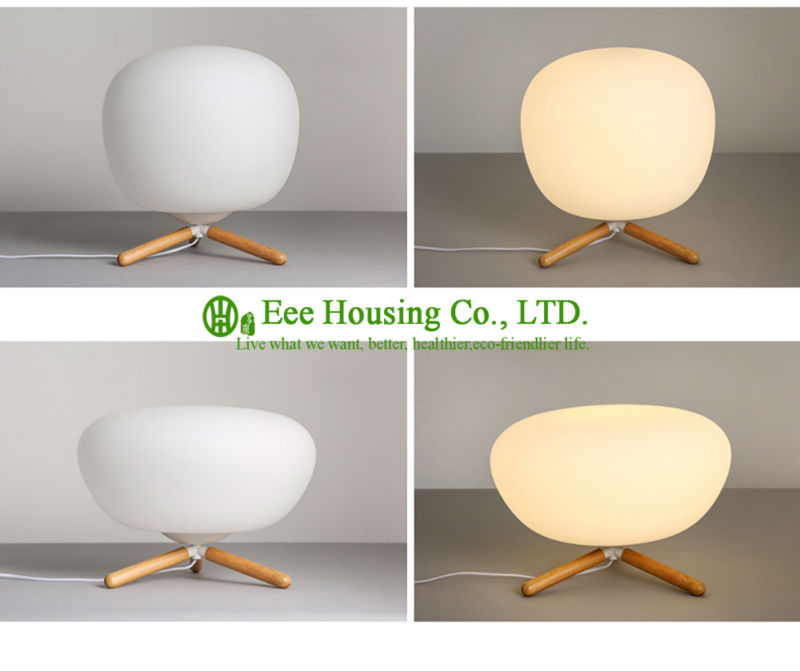 North America LED Modern Table Desk Lamp White Lampshade Gold Light Base Residential Lighting