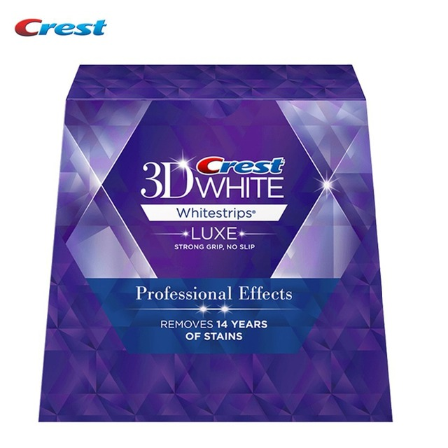 (1 Box/40 Tiras 20 Bolsas) LUXE Crest 3D whitestrips Efectos Profesionales Dientes higiene bucal Blanqueamiento dental Original