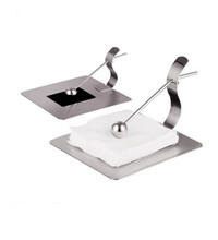 Stainless steel tissue seat paper towel holder table napkin seat pumping rack desktop tissue box square washouts