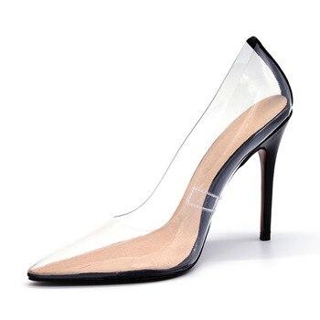 Διάφανες γόβες super high heels sexy
