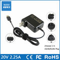 20V 2.25A 45W AC laptop power adapter charger for Lenovo Yoga2 11 11S S1 K2450 T431S X230 X240 X240S portable US/EU/AU/UK Plug