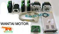 3 Axis Nema 34 Spindle Dual Shaft 1090oz in Wantai Stepper motor & Nema23 with 425oz in CNC Foam Nill Engraving Cut
