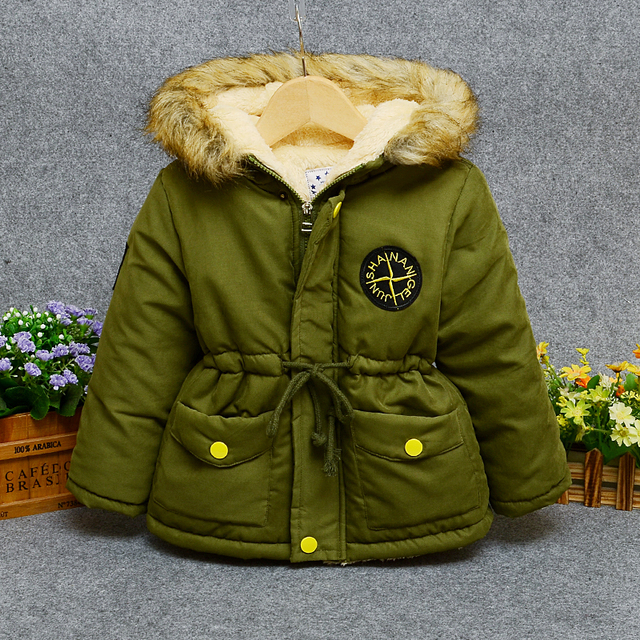 42e9a41e693c8 Aliexpress.com : Buy 3 years old boy cotton coat 4 baby long section 5  winter thickening plus velvet jacket 6 children's clothing 2018 new  children ...