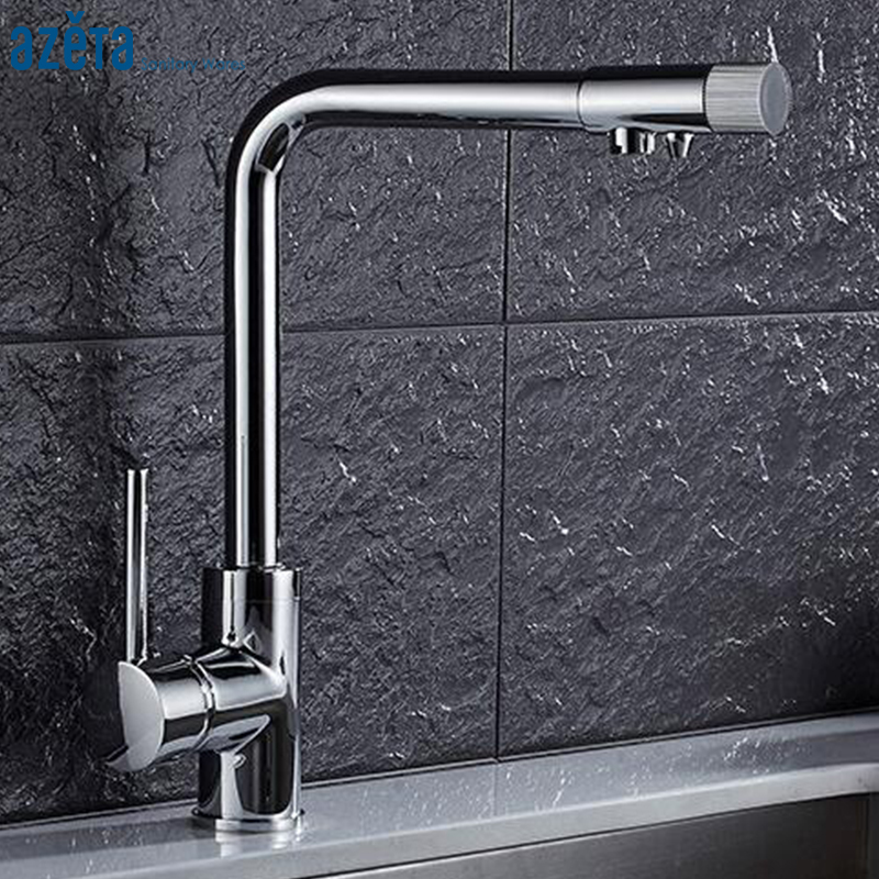 Azeta Chrome Plated Water Purification Kitchen Faucet Drinking Water Kitchen Faucet 3 Way Water Filter Tap AT9308