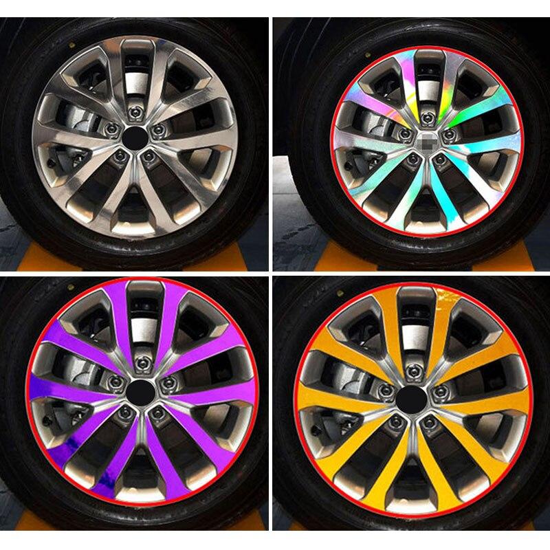YONGXUN A set/4pcs Color hub sticker TEXTURE VINYL WHEEL HUB DECAL STICKER FOR Renault Kadjar CAR-STYLING