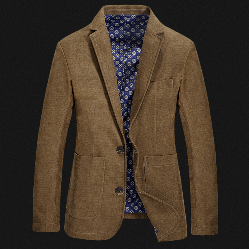 ICPANS Blazer Men Jacket Masculine Formal Smart Casual Big-Size Spring XXXL Man Solid-Color