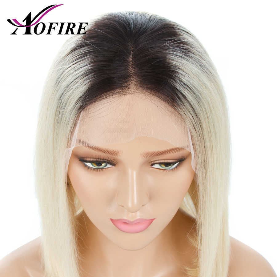 1B/613 Blonde Short Bob 13x4 Lace Front Human Hair Wigs Pre Plucked With Baby Hair 150% Density Remy Brazilian Straight Wig