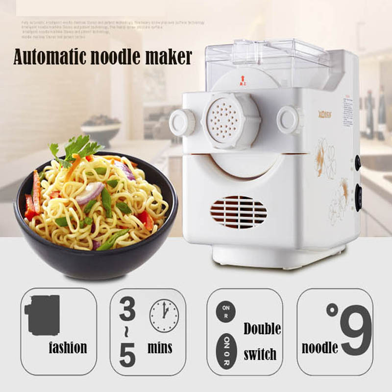 DIY Household Fully-Automatic Pasta Machine Small Electric Noodle Maker 1pc household mini pasta machine manual metal spaetzle makers pressing machine pole head mingled split noodle tools