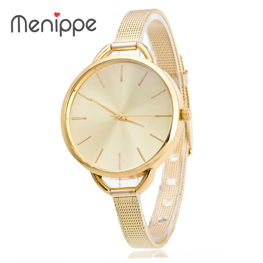 2020  Women Wristwatches With Gold Band Fashion Thin Strap Women Dress Gold Watch Brand New Stainless Steel Watches Women