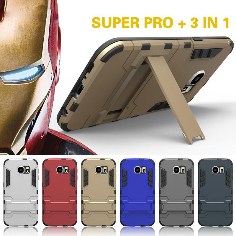 Para samsung galaxy s5 s6 s7 edge s6 edge plus case cubierta dual heavy duty arm