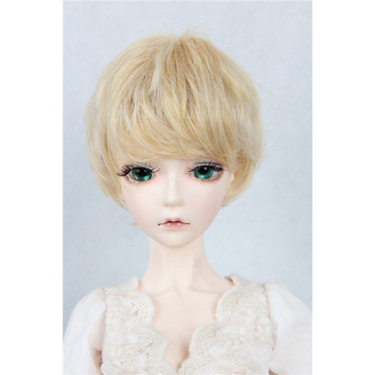 [wamami] 97# golden cute short wig for 1/4 MSD DOD AOD LUTS BJD Dollfie new 1 3 22 23cm 1 4 18 18 5cm bjd sd dod luts dollfie doll orange black short handsome wig