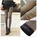 Calças cuidado de mulheres grávidas calças barriga grávida queda e roupas de inverno versão Coreana além de veludo calça jeans leggings