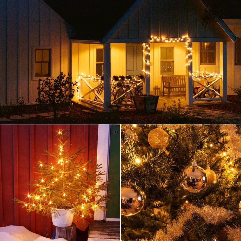 solar lamp string light led holiday lighting christmas fairy garland xms lights (18)