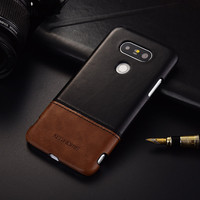 Luxury Brand Thin Vintage Genuine Leather Back Cover Case For LG G5 Phone Cases And Covers