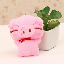 JETTING 1 Pcs Cute Cartoon Little Doll Plush Piggy Kawaii Small Pendant Children Wedding Small Gift Birthday Doll Toys(China)