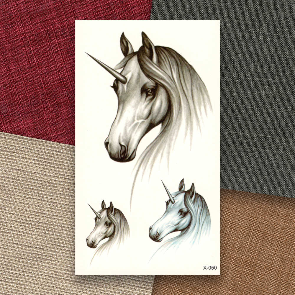 65e306293 ... Unicorns Horses Decals Waterproof Temporary Sticker Women Men Water  Transfer fake tattoo beauty Makeup tools sex ...