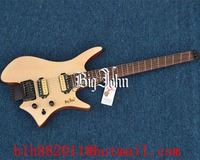 free shipping new Big John Fan fretted headless electric guitar in natural with rosewood fingerboard F 3378 3379
