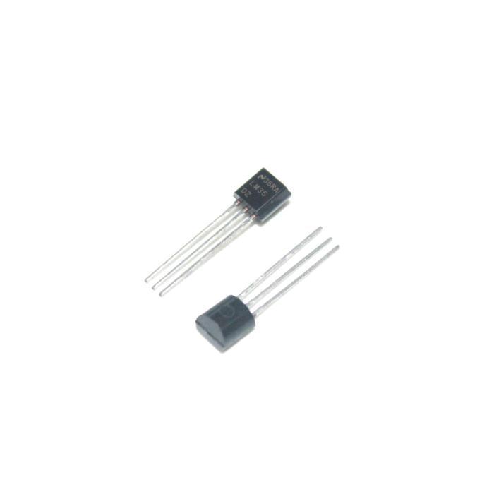 50PCS LM35DZ TO-92 LM35 Precision Centigrade Temperature Sensors