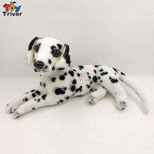 Plush Dalmatians Dog Puppy Stuffed Animals Doll Simulation Dogs Model Baby Kids Children Birthday Gift Home Shop Decor Triver 101 dalmatians