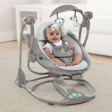 Newborn Gift Multi-function Music Electric Swing Chair Infant Baby Rocking Chair Comfort BB Cradle Folding Baby Rocker Swing 0-3 electrical baby cradle rocking chair folding baby bed cradle baby rocking newborn crib musical chair plastic toys moonlight star