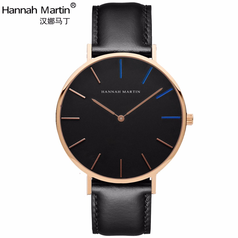 Hannah Martin 2017 Luxury Brand Watches Men Women Neutral Casual Fashion Clock Leather Nylon Quartz Horse