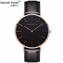 Hannah Martin 2017 de Lujo Relojes de Marca Hombres Mujeres Neutral Reloj de Moda Casual de Cuero de Nylon Caballo reloj de Pulsera de Cuarzo relogio