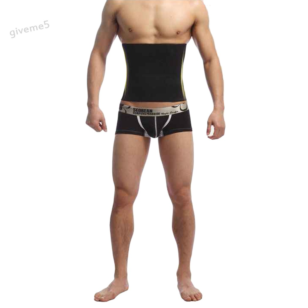 MenS Healthy Slimming Body Shaper Belt Burn Fat Underwear Lose Weight Corset Stomach Body Shapers Male 50