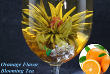 20 unids de arte Chino bolas de té, blooming flower té con sabor a fruta, vacío paquete de té