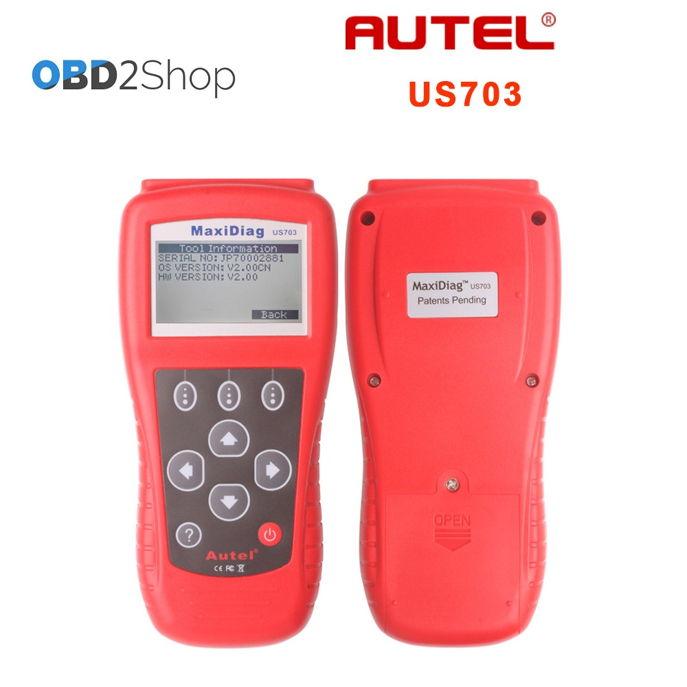 Autel MaxiScan US703 USA Vehicle OBDII EOBD Code Reader Scanner autel md801 pro 4 in 1 code scanner jp701 eu702 us703 fr704 maxidiag pro md 801 code reader